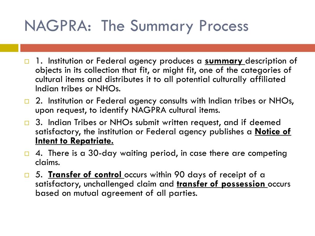 PPT - NAGPRA: the basics PowerPoint Presentation - ID:1840114