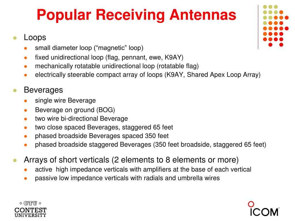 PPT - Receiving Antennas - or - What happened to the Beverages at
