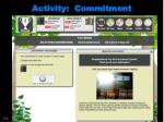 activity commitment