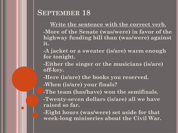 September 18