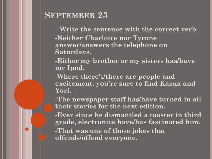 September 23
