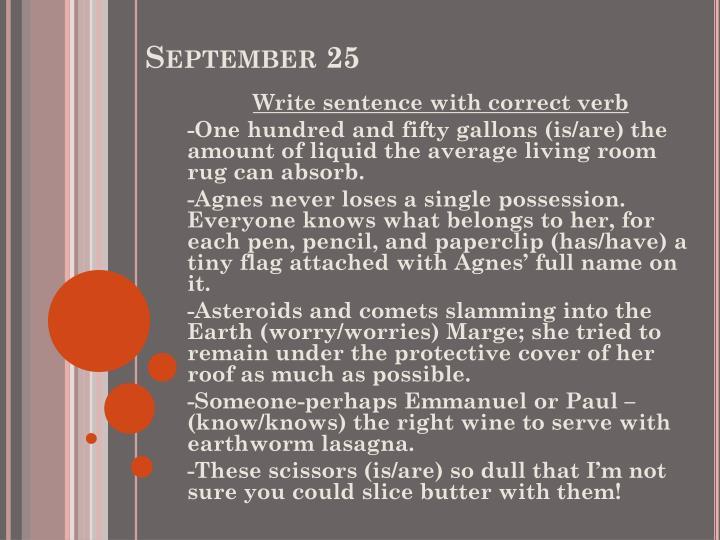 September 25