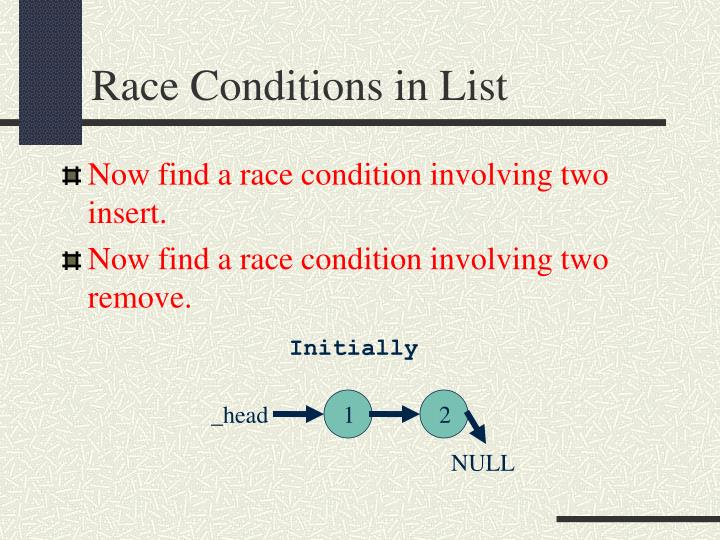 Race Conditions in List