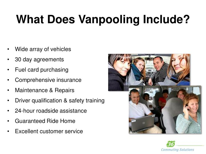 What Does Vanpooling Include?