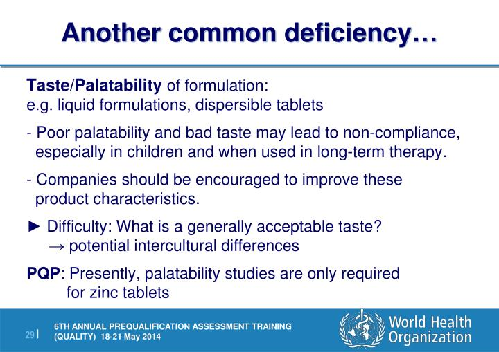 Another common deficiency…