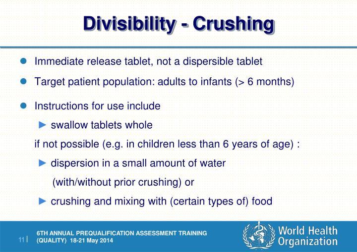 Divisibility - Crushing