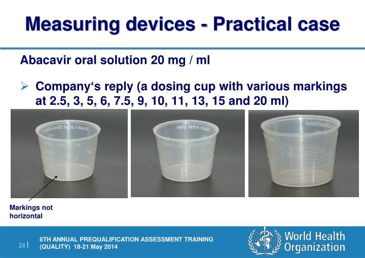 Measuring devices - Practical case