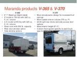 maranda products v 365 v 370