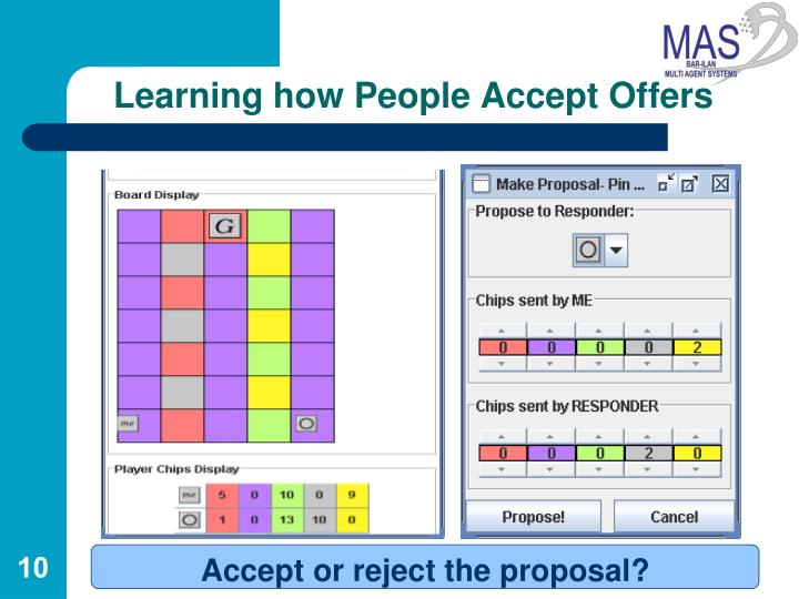 Learning how People Accept Offers