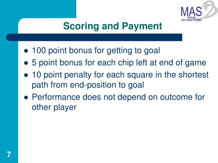 Scoring and Payment