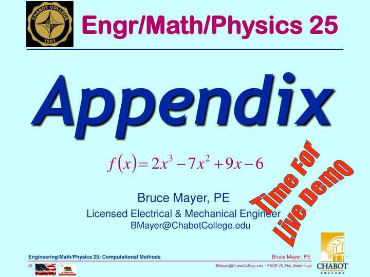 Engr/Math/Physics 25