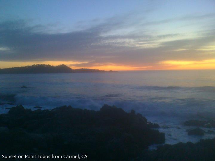Sunset on Point Lobos from Carmel, CA