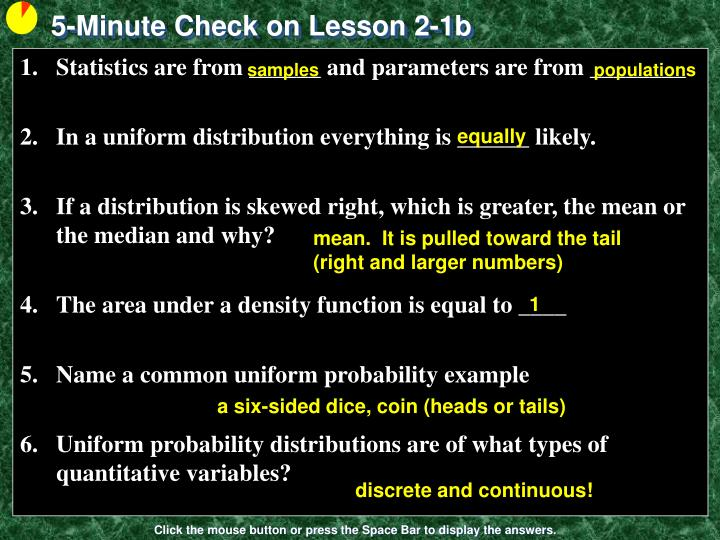 PPT - 5-Minute Check on Lesson 2-1b PowerPoint Presentation