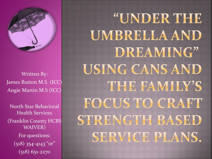"""""""Under the Umbrella and Dreaming"""