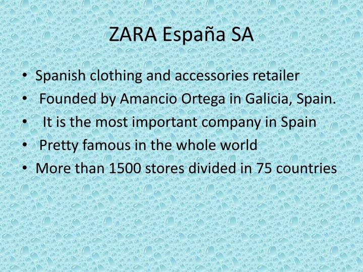 zara marketing plan