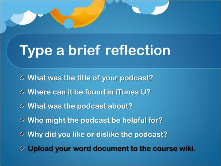 Type a brief reflection