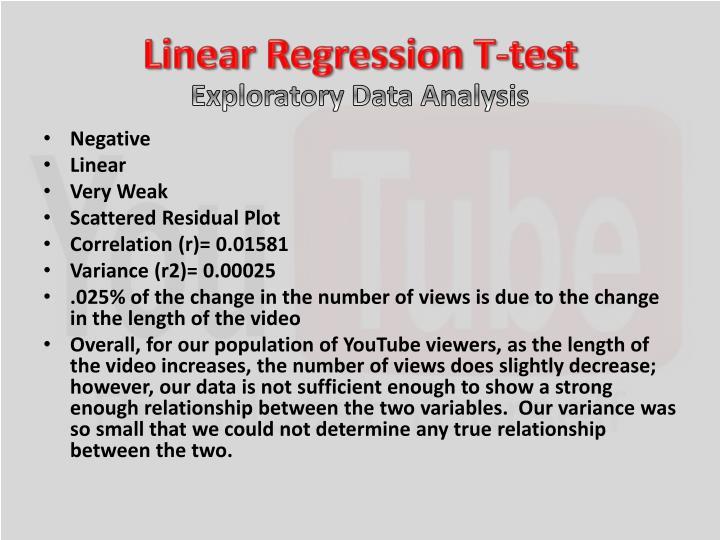 Linear Regression T-test