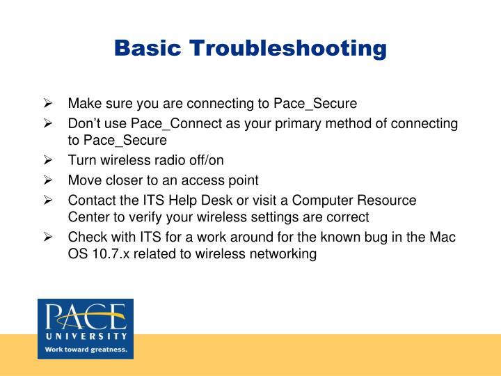 Basic Troubleshooting