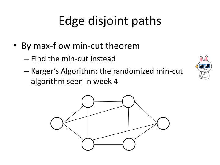 Edge disjoint paths