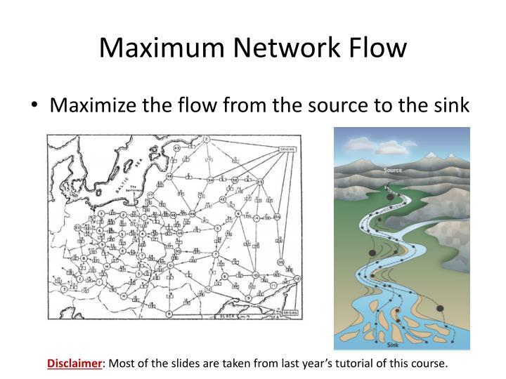Maximum network flow
