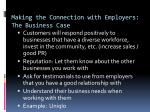 making the connection with employers the business case2