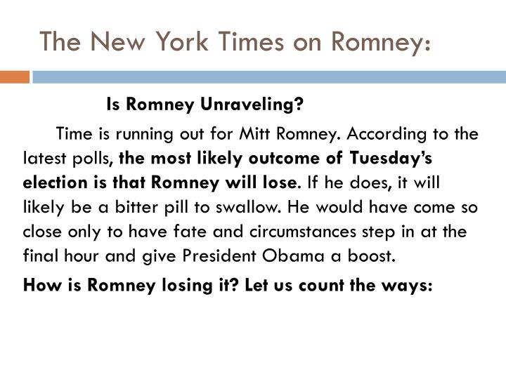 The New York Times on Romney:
