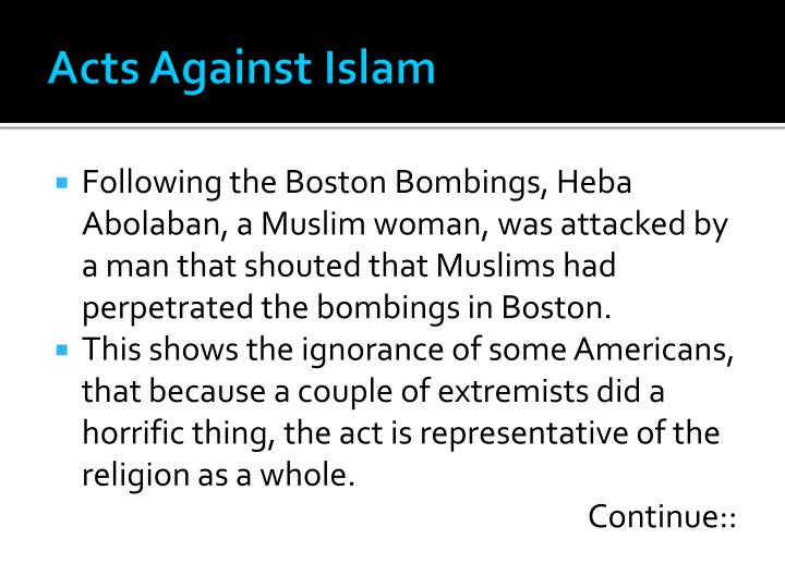 Acts Against Islam