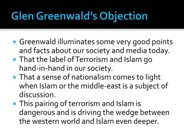 Glen Greenwald's Objection