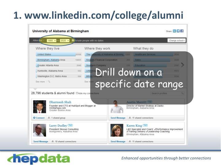 1. www.linkedin.com/college/alumni