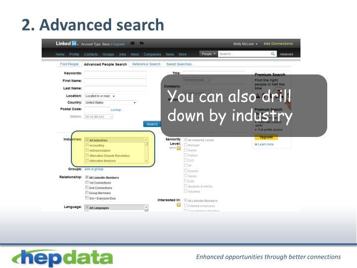 2. Advanced search