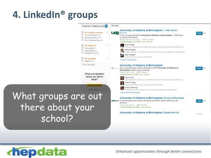 4. LinkedIn® groups