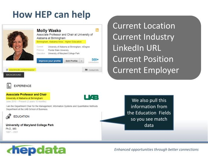 How HEP can help