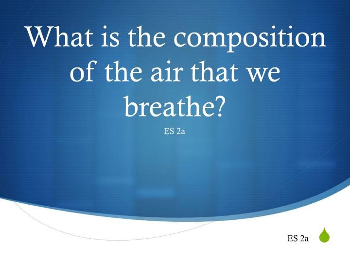 what is the composition of the air that we breathe n.