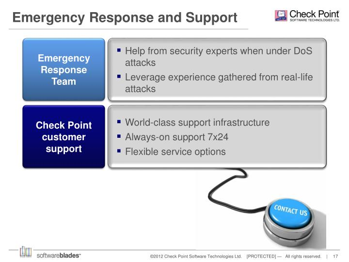 Emergency Response and Support