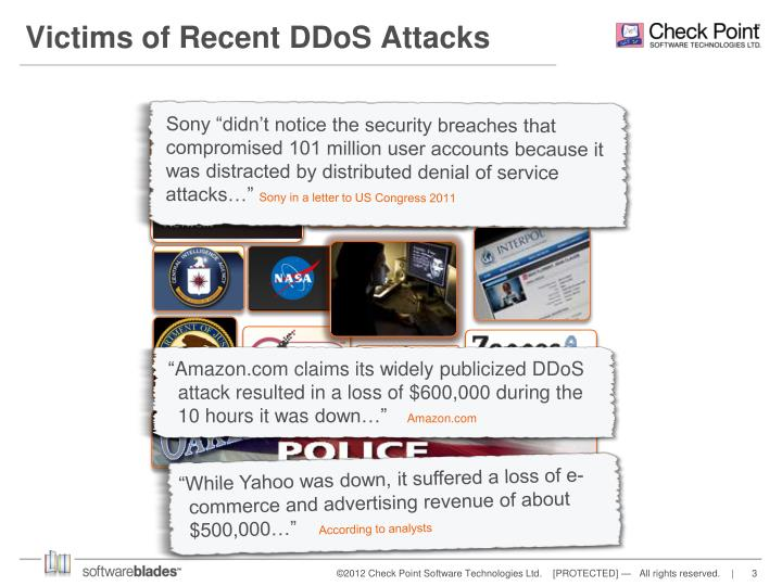 Victims of recent ddos attacks