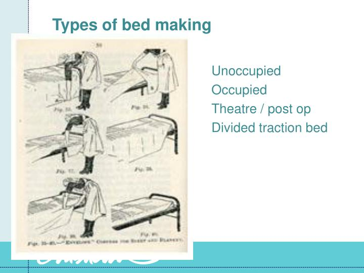 Making An Unoccupied Bed With A Draw Sheet