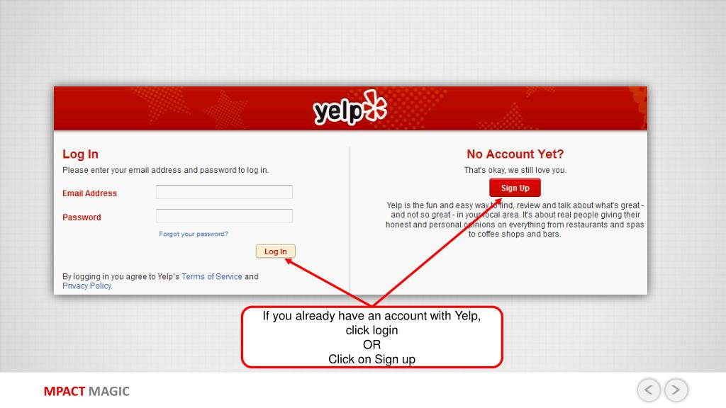 PPT - YELP COM SITE PROFILE CREATION GUIDE PowerPoint