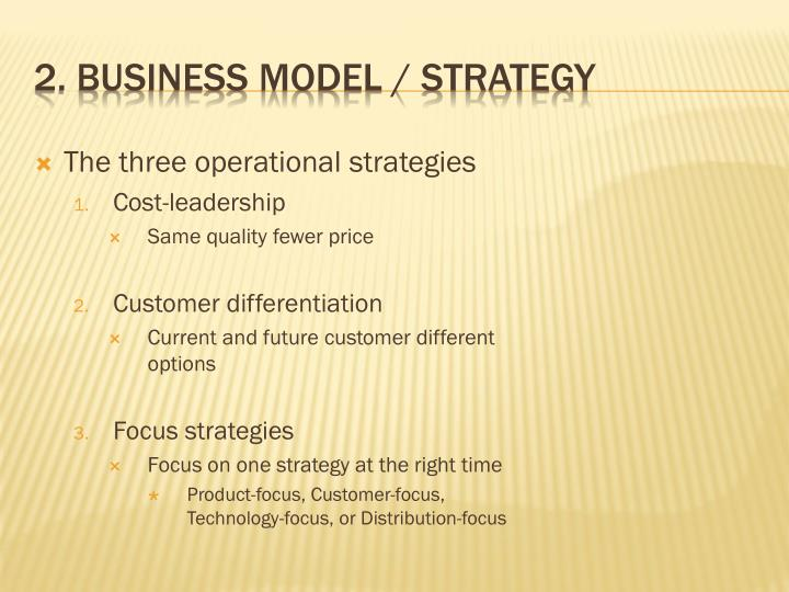 2. Business model / Strategy