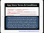 app store terms conditions