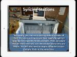 syncing stations
