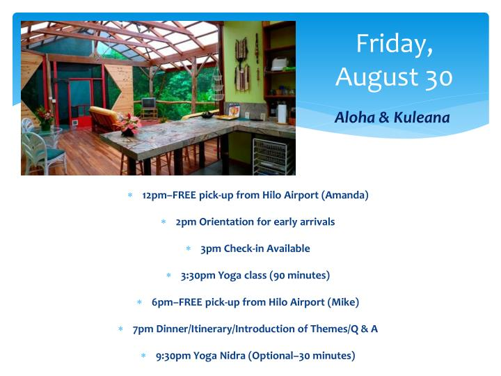 Friday, August 30