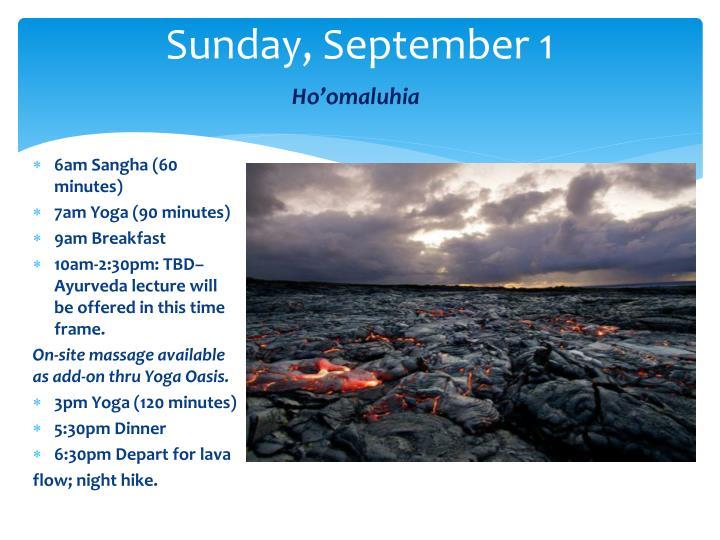 Sunday, September 1