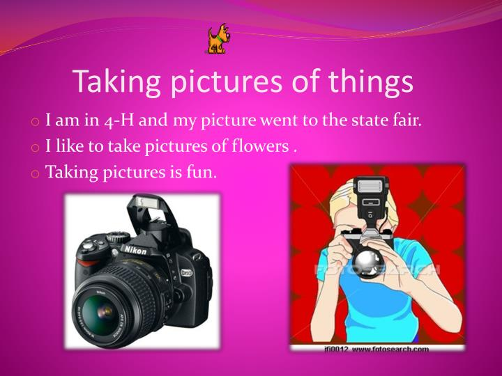 Taking pictures of things