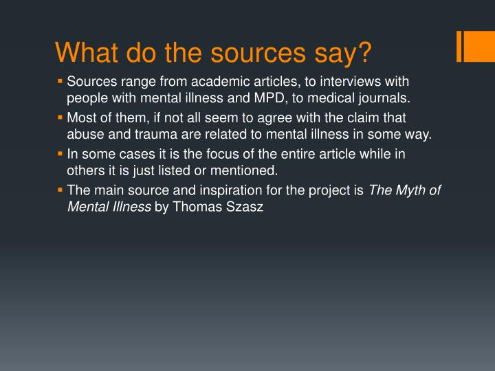 What do the sources say?