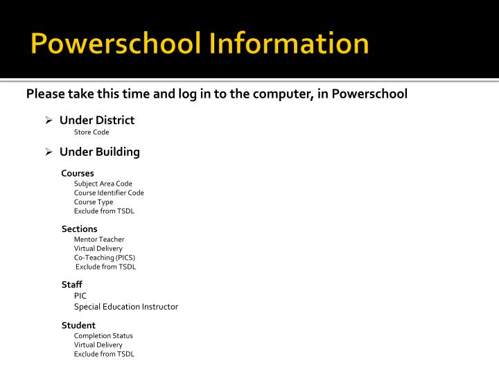 Powerschool Information
