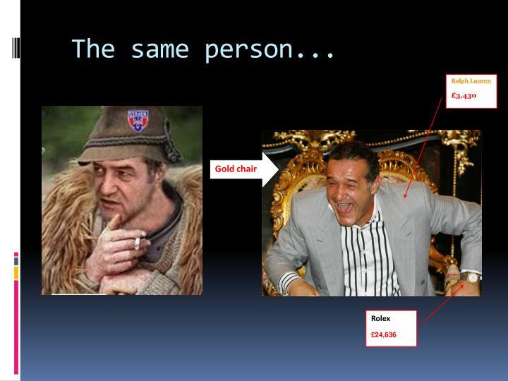 The same person...