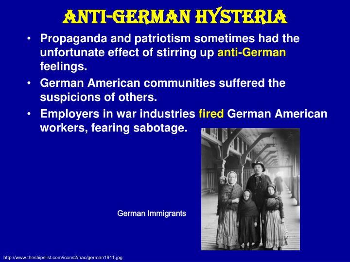 Anti-German Hysteria