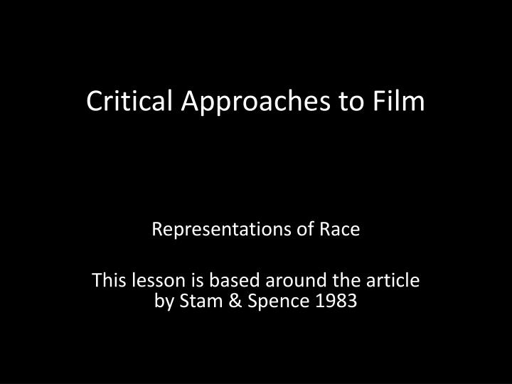 critical approaches to film n.
