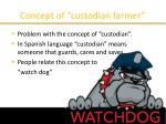 concept of custodian farmer