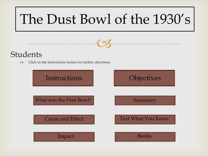 causes and effects of the dust bowl